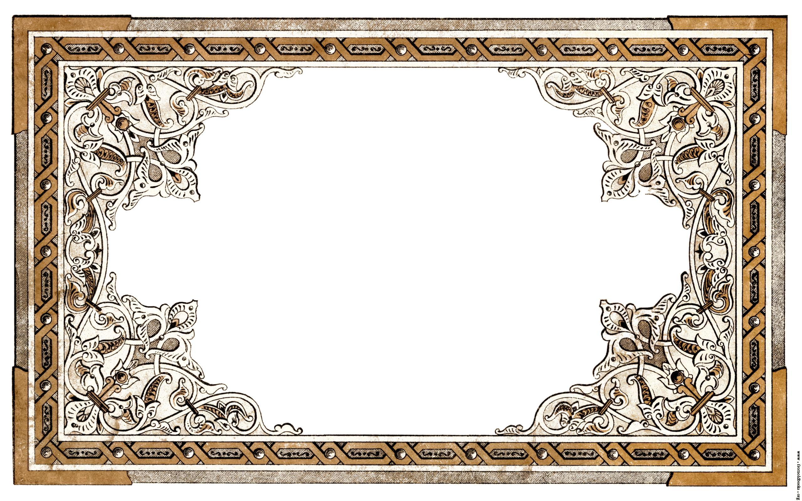 Vintage Shabby Chic Ornate Full Page Border Details