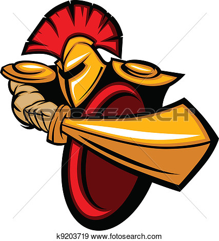 Body With Sword And Shield Vector Illustration View Large Clip Art