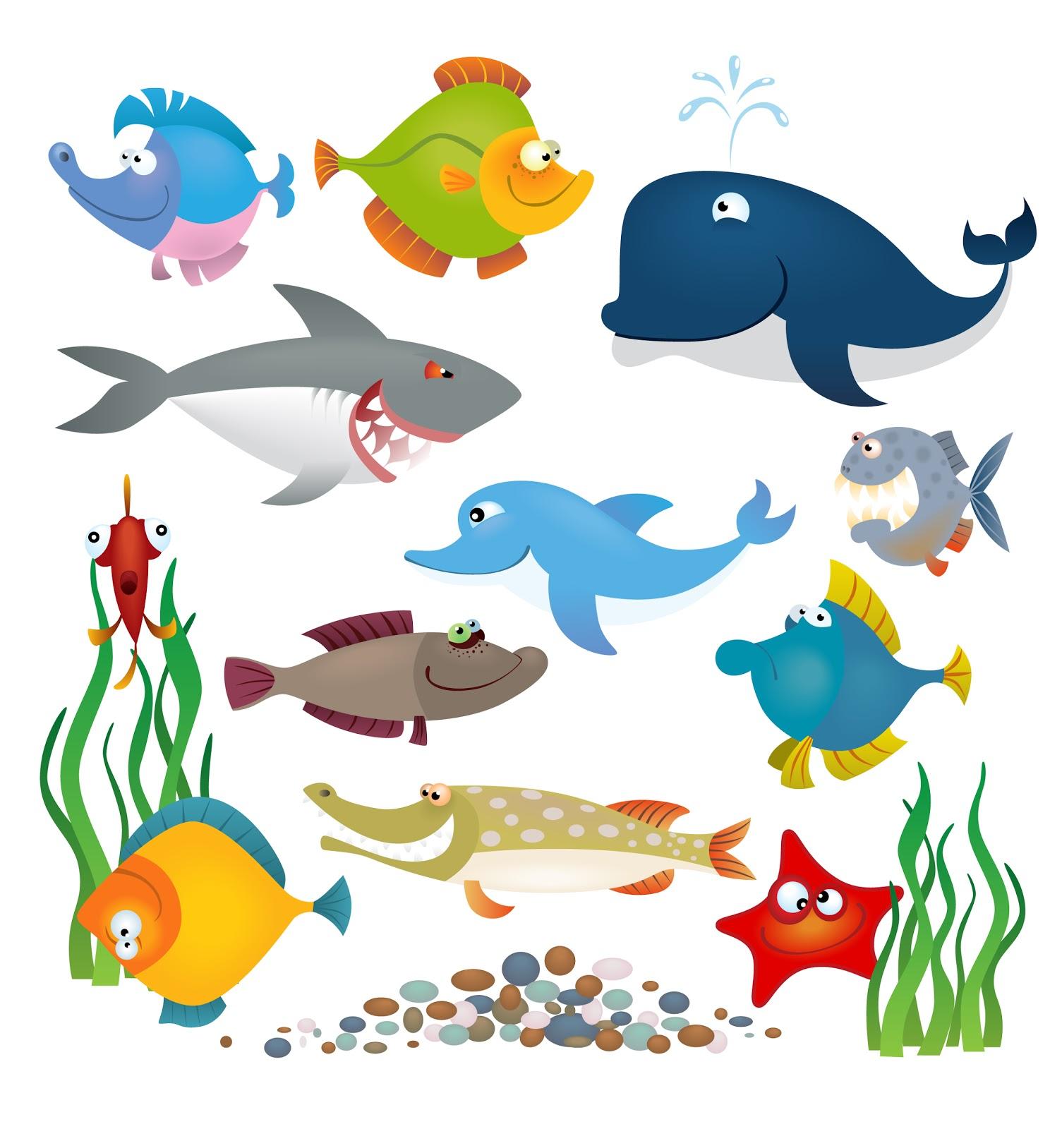 Cartoon Sea Creatures Clipart Cliparthut Free Clipart