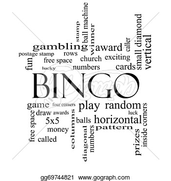 Clipart   Bingo Word Cloud Concept In Black And White With Great Terms