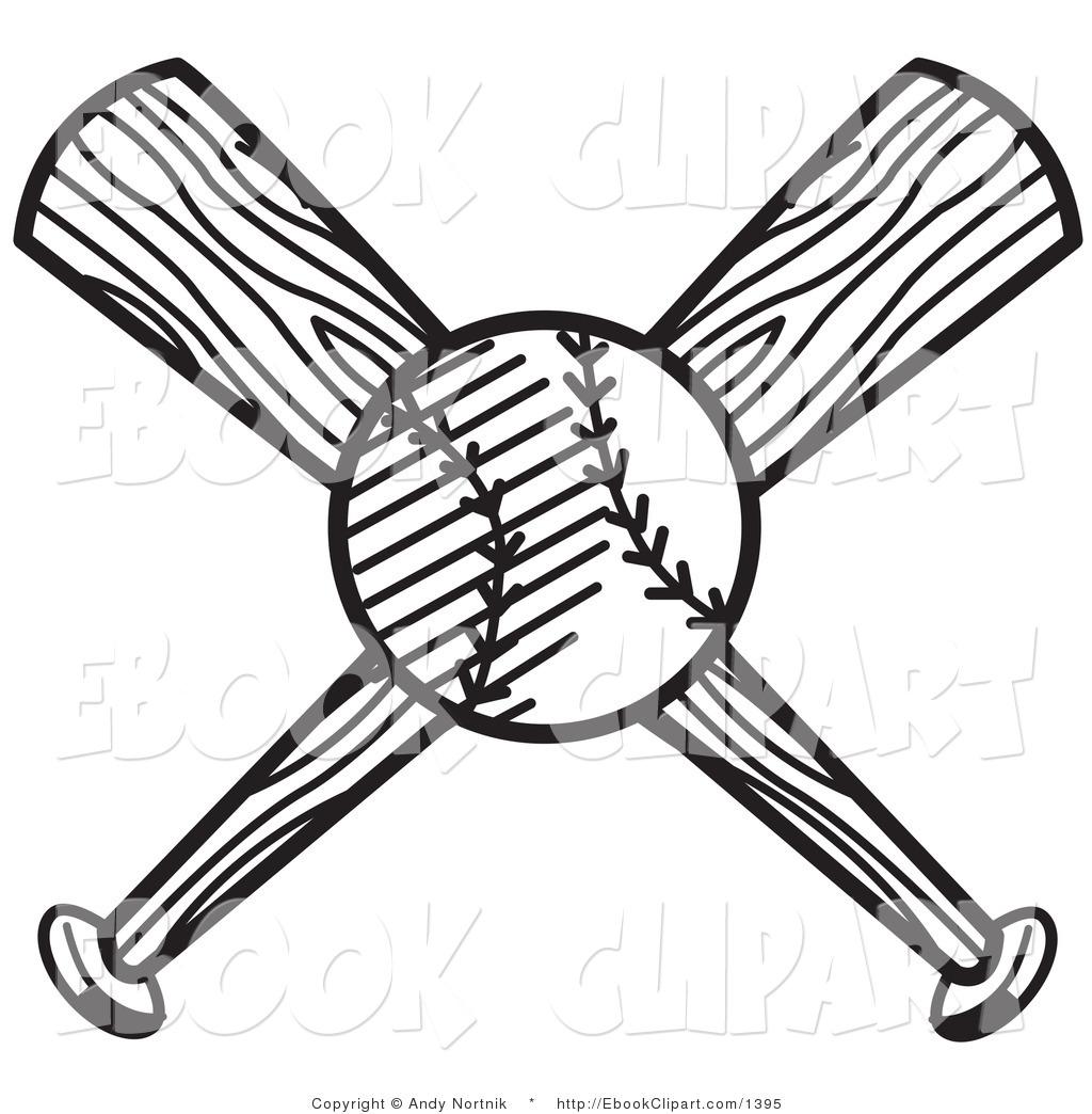 Baseball Crossed Bats Clipart - Clipart Kid