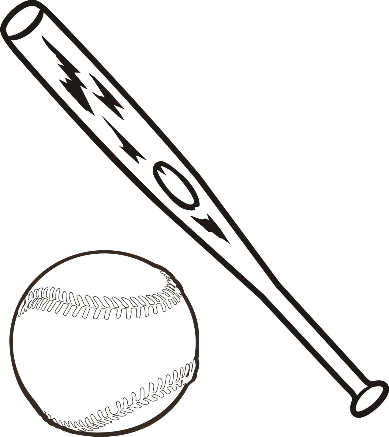 Baseball Bat Black And White Clipart - Clipart Kid