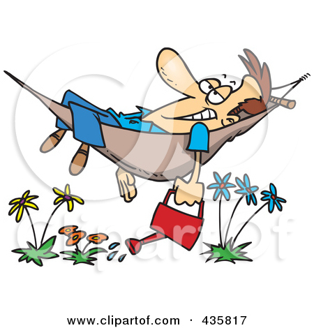 A Relaxing In Hammock Clipart - Clipart Kid