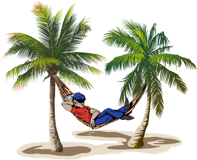 Man In Hammock Clip Art