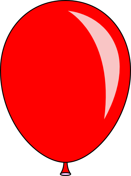 New Red Balloon Clip Art At Clker Com   Vector Clip Art Online