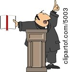 Religious Man Preaching From The Bible Clipart By Dennis Cox