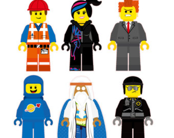 The Lego Movie Characters Removable Wall Stickers 6 Piece Set