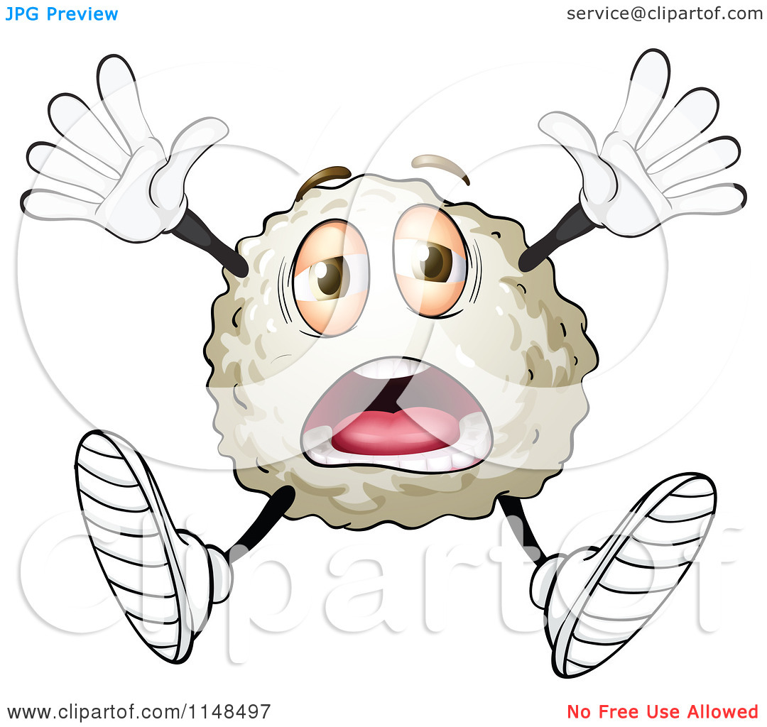 White Blood Cell Or Virus Bacteria Germ   Royalty Free Vector Clipart
