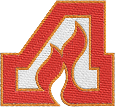 Atlanta Flames Hockey Logos Machine Embroidery Design    0523