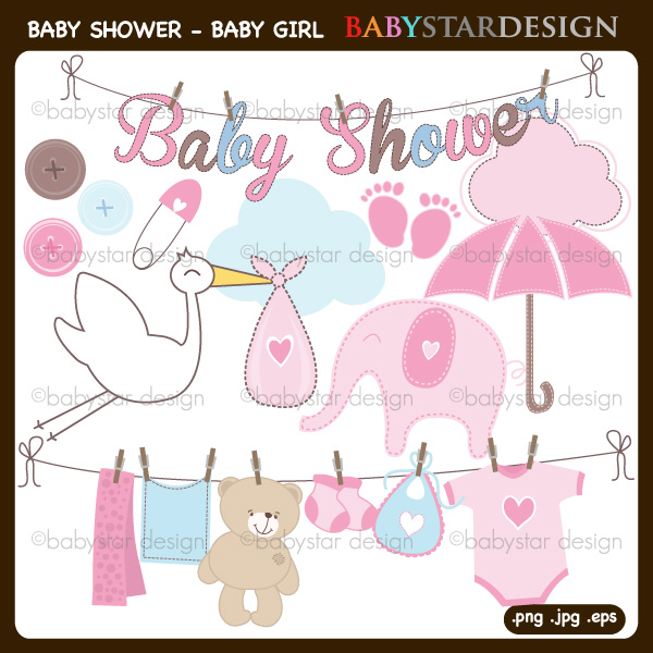baby shower pictures clip art for a girl - photo #46