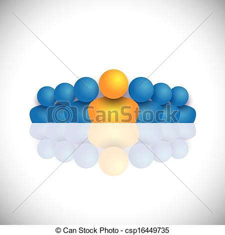Blue Orange People Icons  The Vector Graphic Also Represents People