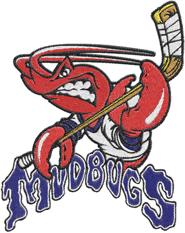 Bossier Shreveport Mudbugs Hockey Logos Machine Embroidery Design 0532