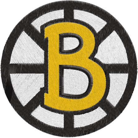 Boston Bruins Hockey Logos Machine Embroidery Design    0537