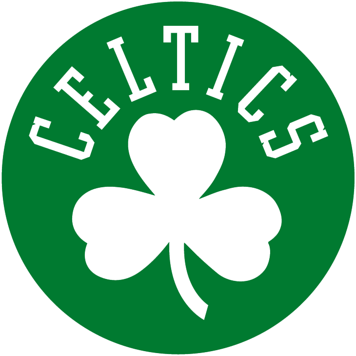 Boston Celtics Alternate Logo  1999    Celtics And Clover In White On