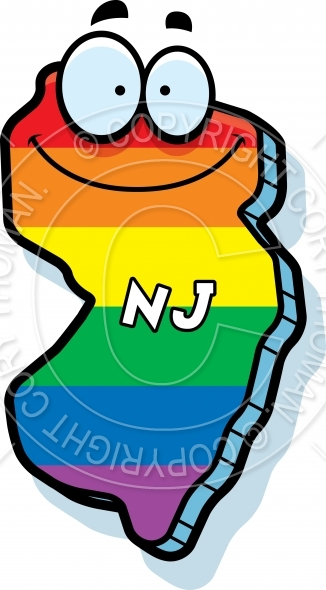 Cartoon New Jersey Gay Marriage Vector And Royalty Free License   Cory