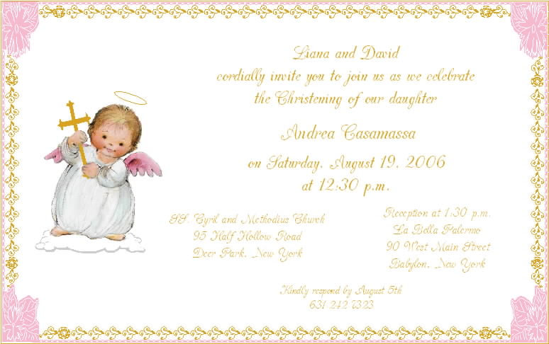 Beautiful Baptism Invitations with luxury invitation layout