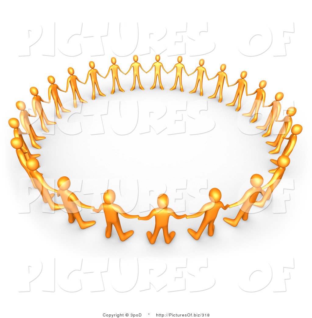 Clipart Of A Circle Of 3d Orange People By 3pod    318