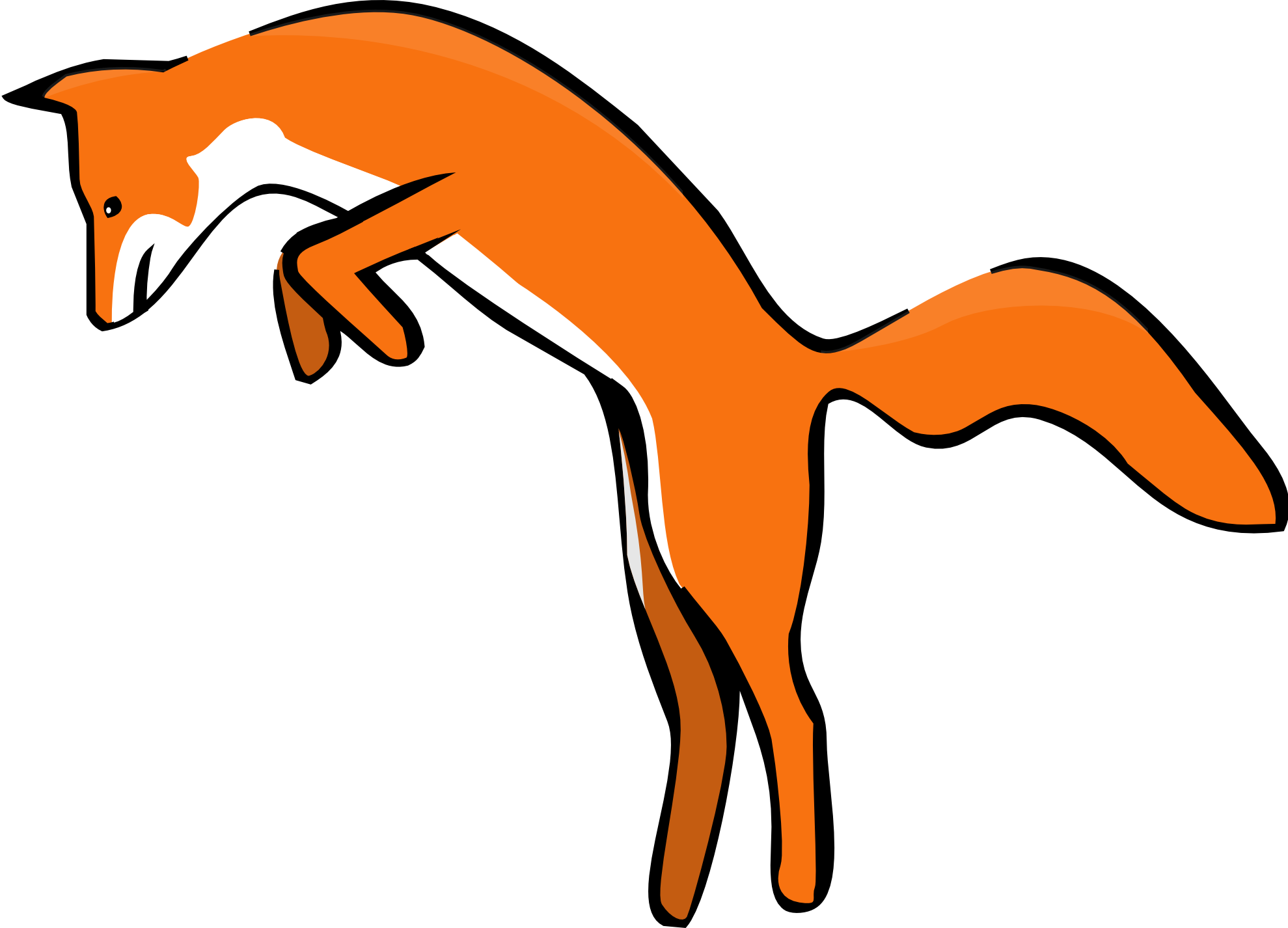 Clipartist Net Clip Art Leaping Red Fox Scalable Vector