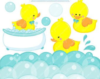 Commercial Use Ok   Digital Rubber Duck Graphics   Yellow Duck Clipart