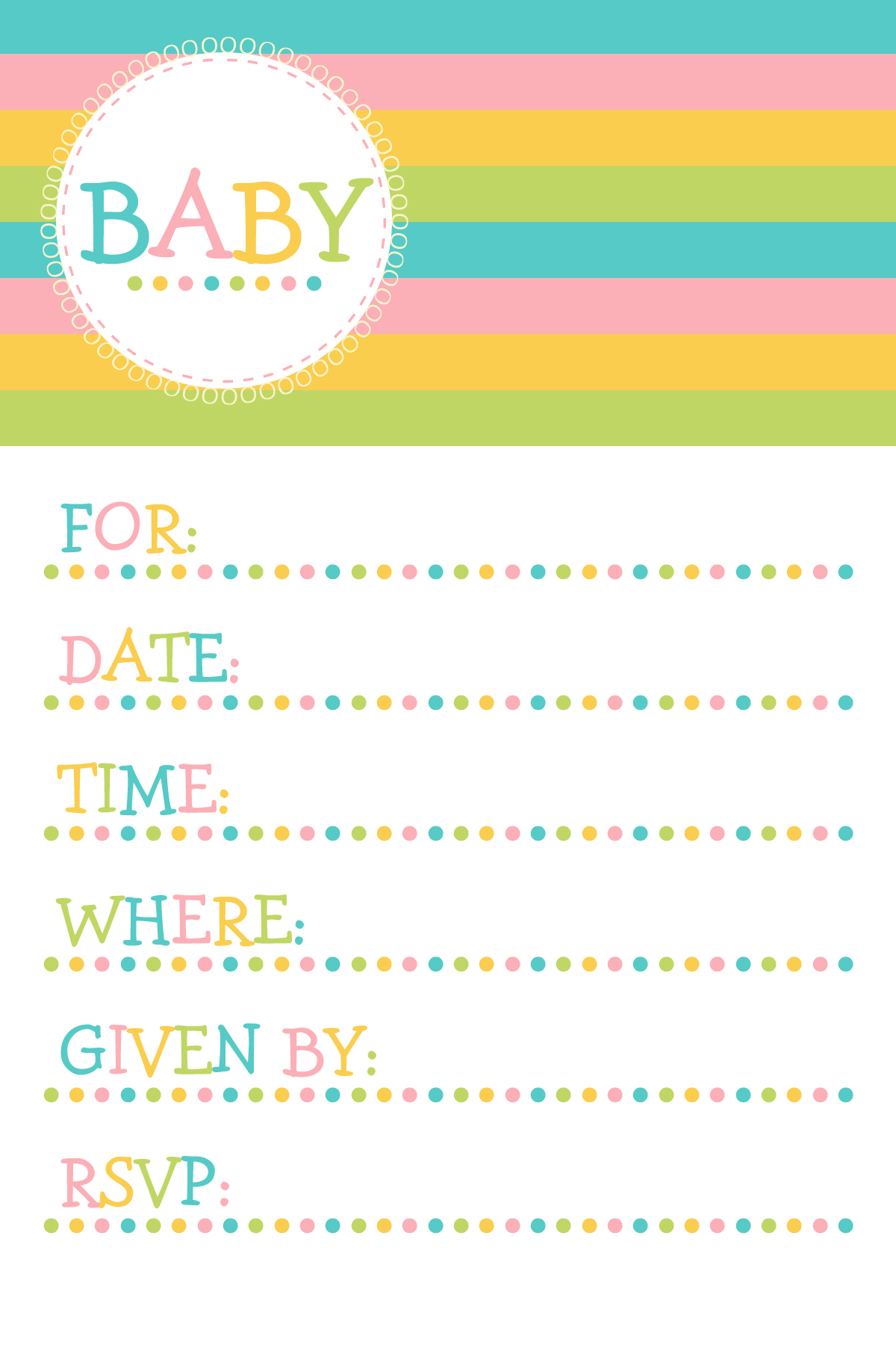 Printable Baby Shower Clipart - Clipart Kid