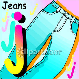 Jeans Day Clip Art J Is For Jeans