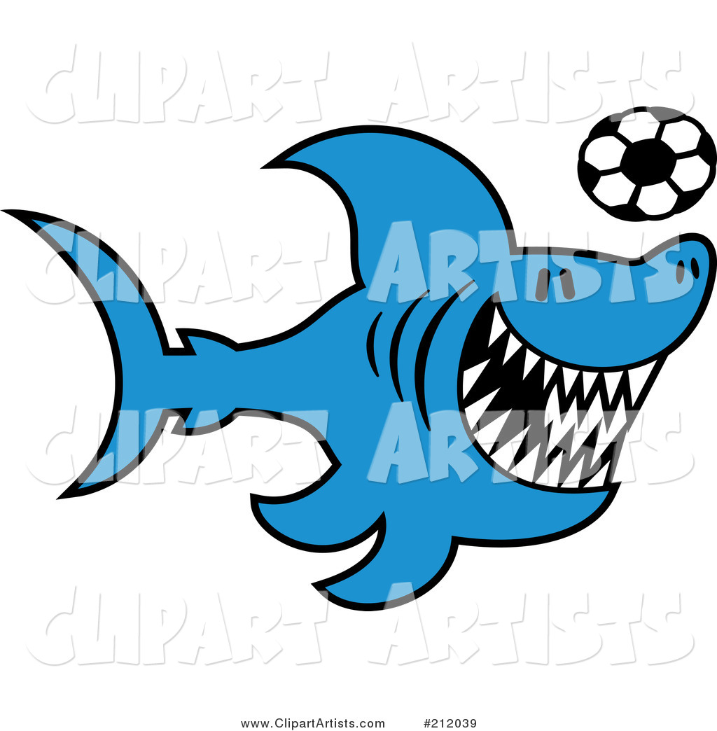 Larger Preview  Vector Shark Clipart By Zooco