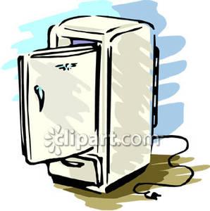 how to clean a black fridge