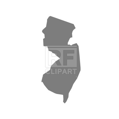 New Jersey State Map Silhouette 295 Signs Symbols Maps Download