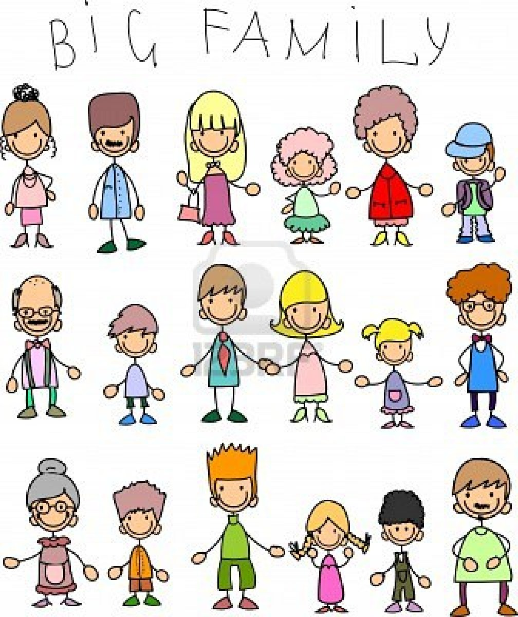Big Family Clipart - Clipart Kid