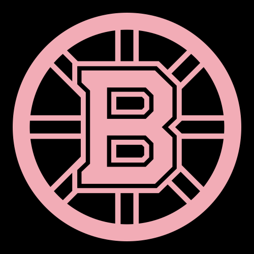 Pink Boston Bruins 2007 Pres Primary Logo Iron On Sticker  Heat