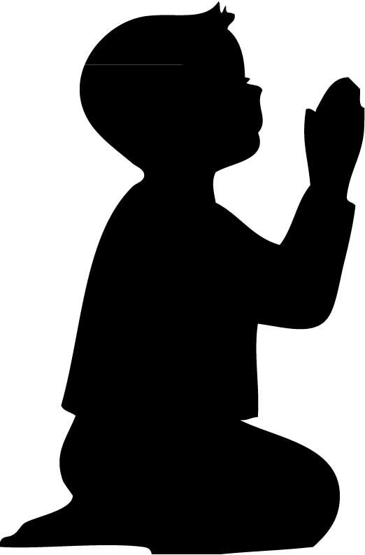 Silhouette Of A Boy   Cliparts Co