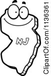 State Of New Jersey Character Outlined Mad New Jersey State Character