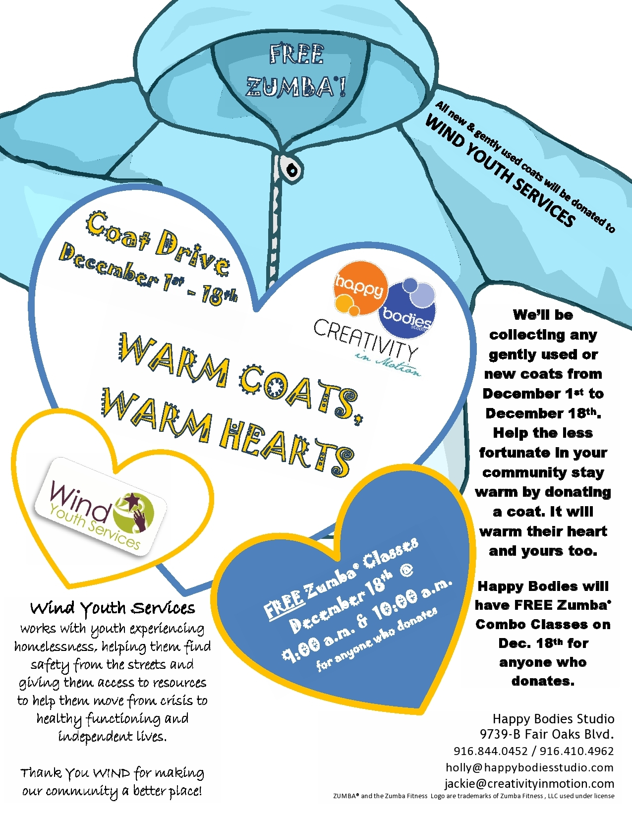 Winter Coat Drive Clip Art Coat Drive Flyer   Viewing