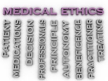 3d Image Medical Ethics Issues Concept Word Cloud Background Royalty