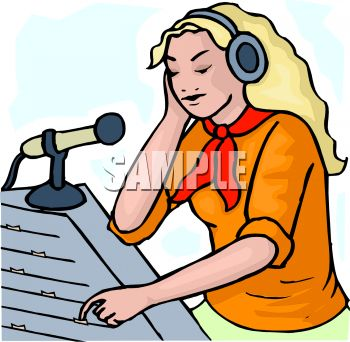 Clip Art Girl With Radio Clipart - Clipart Kid