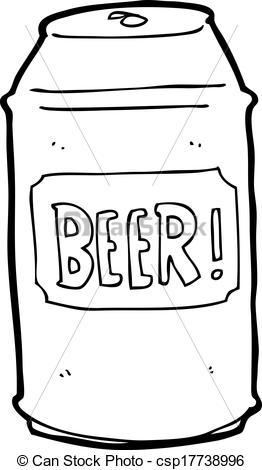 Eps Vectors Of Cartoon Beer Can Csp17738996   Search Clip Art