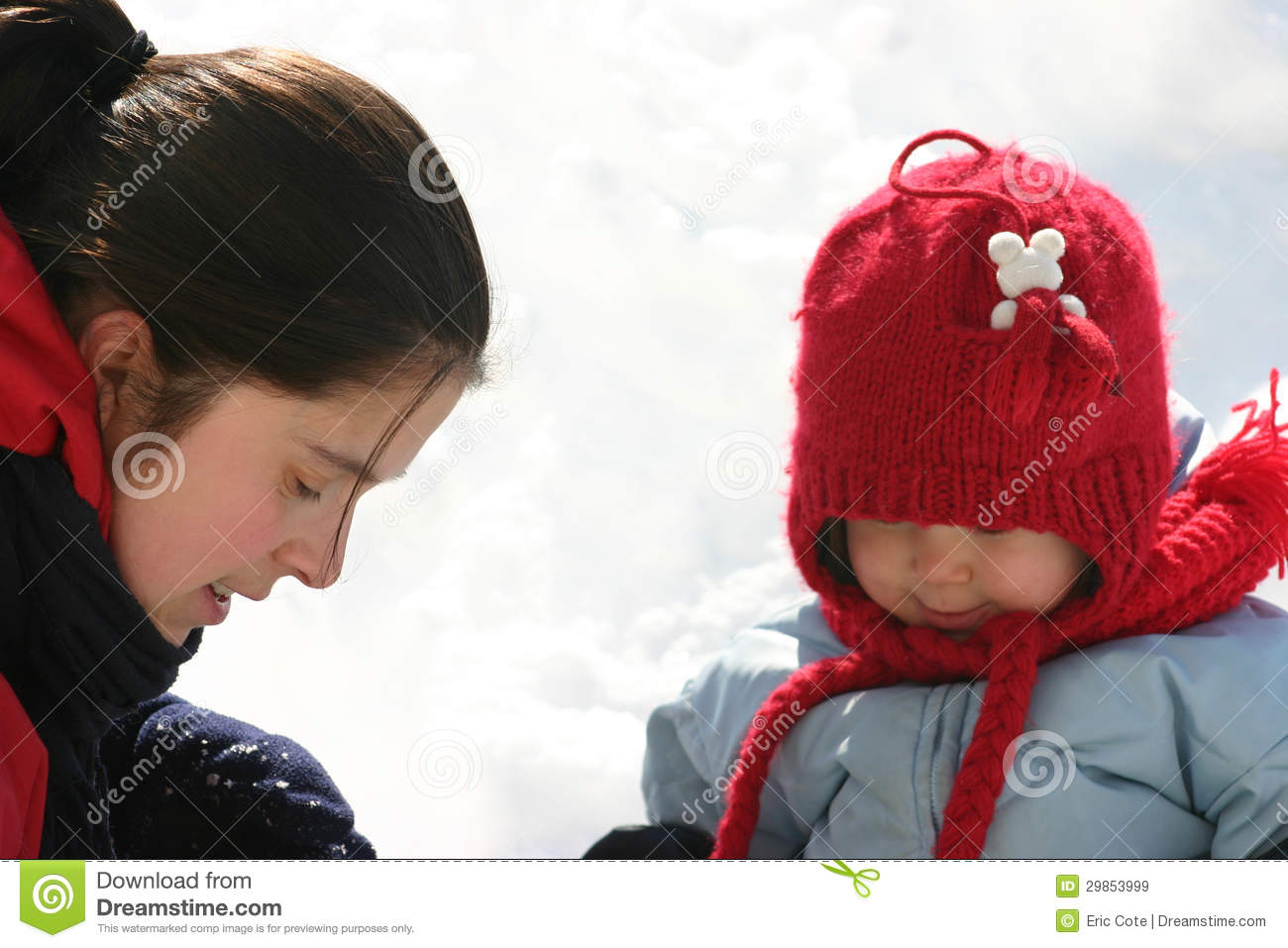Family In The Snow Royalty Free Stock Images   Image  29853999