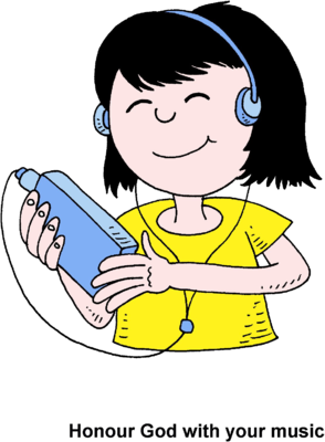 Clip Art Girl With Radio Clipart - Clipart Suggest