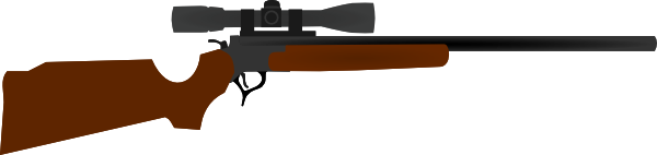 Huting Rifle With Scope Clip