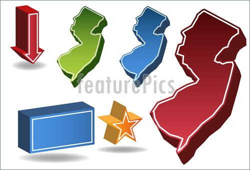 Illustration Of New Jersey Map  Vector Clip Art To Download At