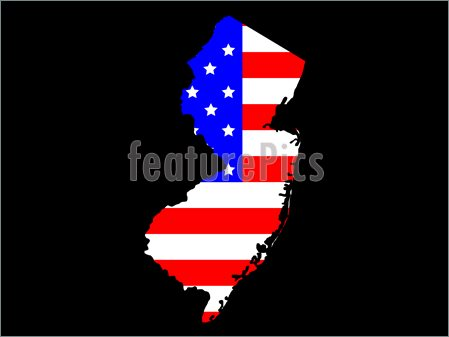 Illustration Of State Of New Jersey  Royalty Free Illustration At