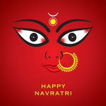 Indian Godess Durga Devi Face Stock Illustrations