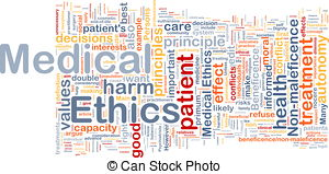Medical Ethics Background Concept Wordcloud Clipart