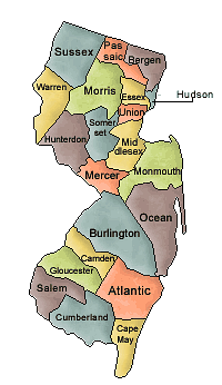 New Jersey   Http   Www Wpclipart Com Geography Us Counties New Jersey