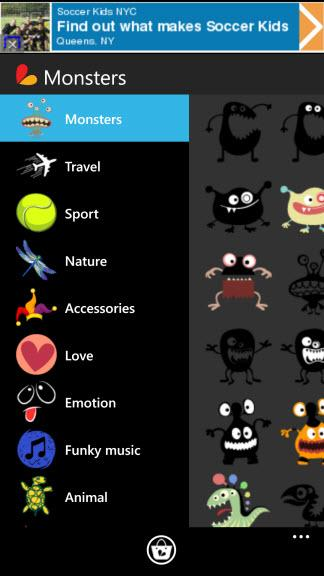 Picsart Photo Studio  For Windows Phone   Clip Art