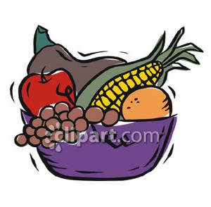 Citrus Fruit Bowl Cartoon Clipart - Clipart Kid