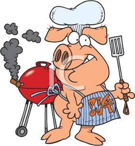 Clip Art Pig Roast Clip Art bbq pig free clipart kid cooking at a grill royalty picture