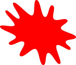 Red Paint Splatter Clip Art At Clker Com   Vector Clip Art Online