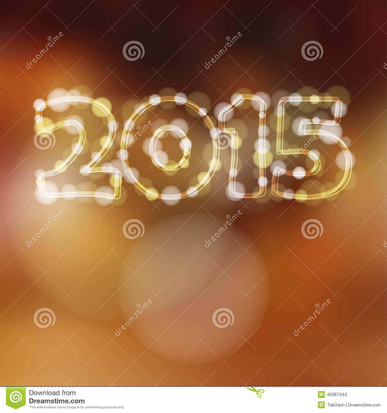 Year Greeting Card 2015 Glitter Lights Stock Vector   Image  45987444
