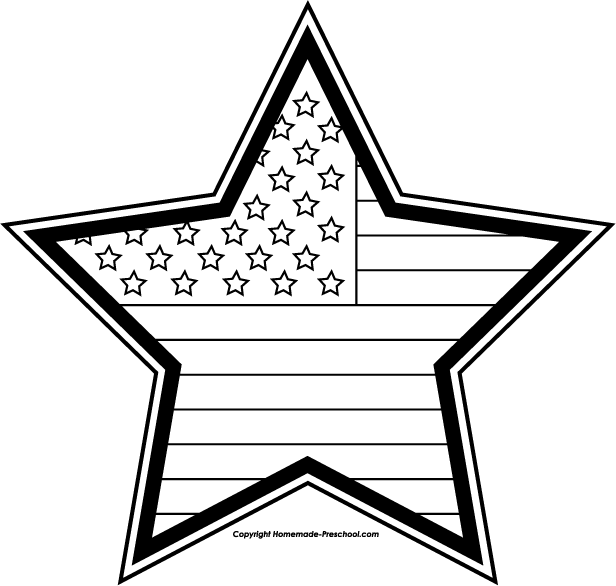 4th Of July Clip Art Black And White